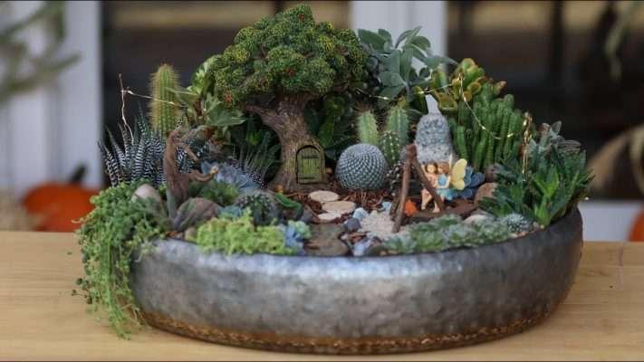 Tree House Fairy Garden